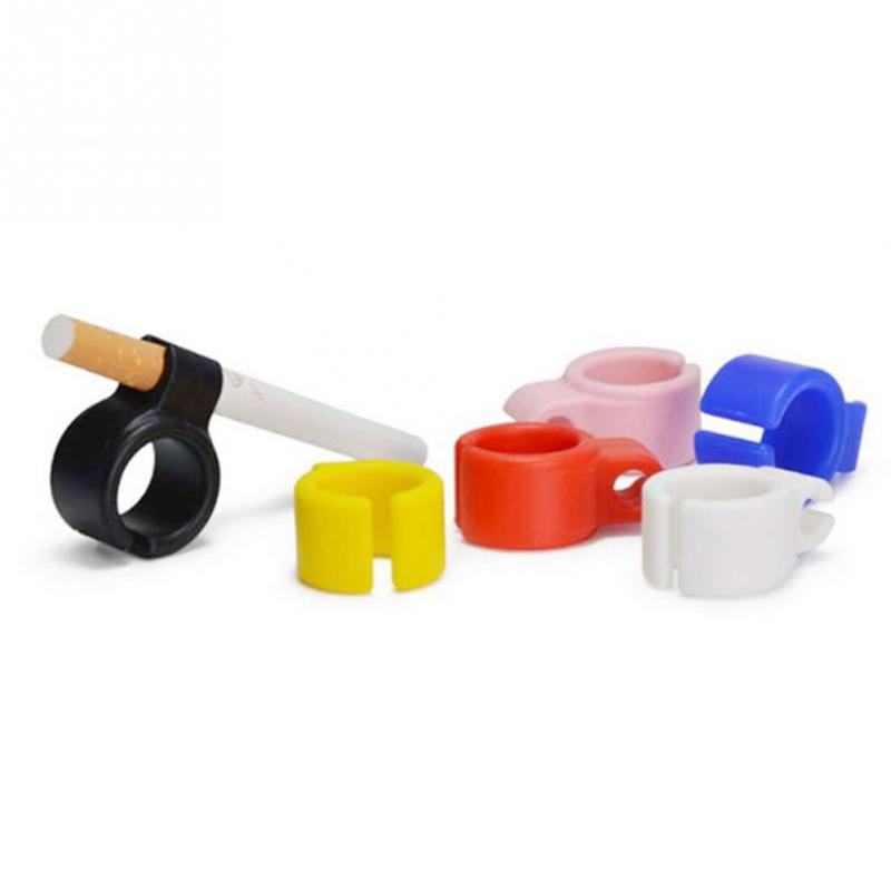 Honana CA-01 Silicone Ring Finger Hand Rack Cigarette Holder Adjustable Ring Smoking Accessories Fingers Free for Driving Playing Game
