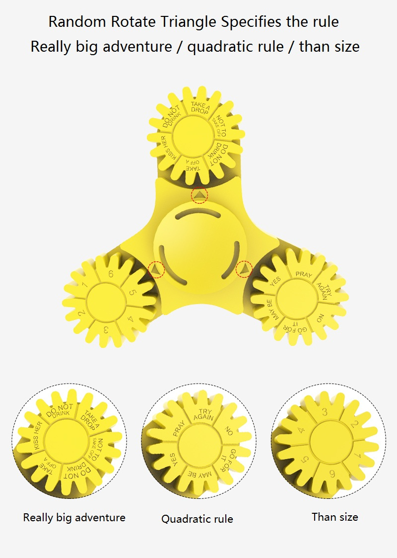 Gamma Colorful 3 Leaves Finger Spinner Toys EDC For Autism And ADHD Rotation Stress Gift