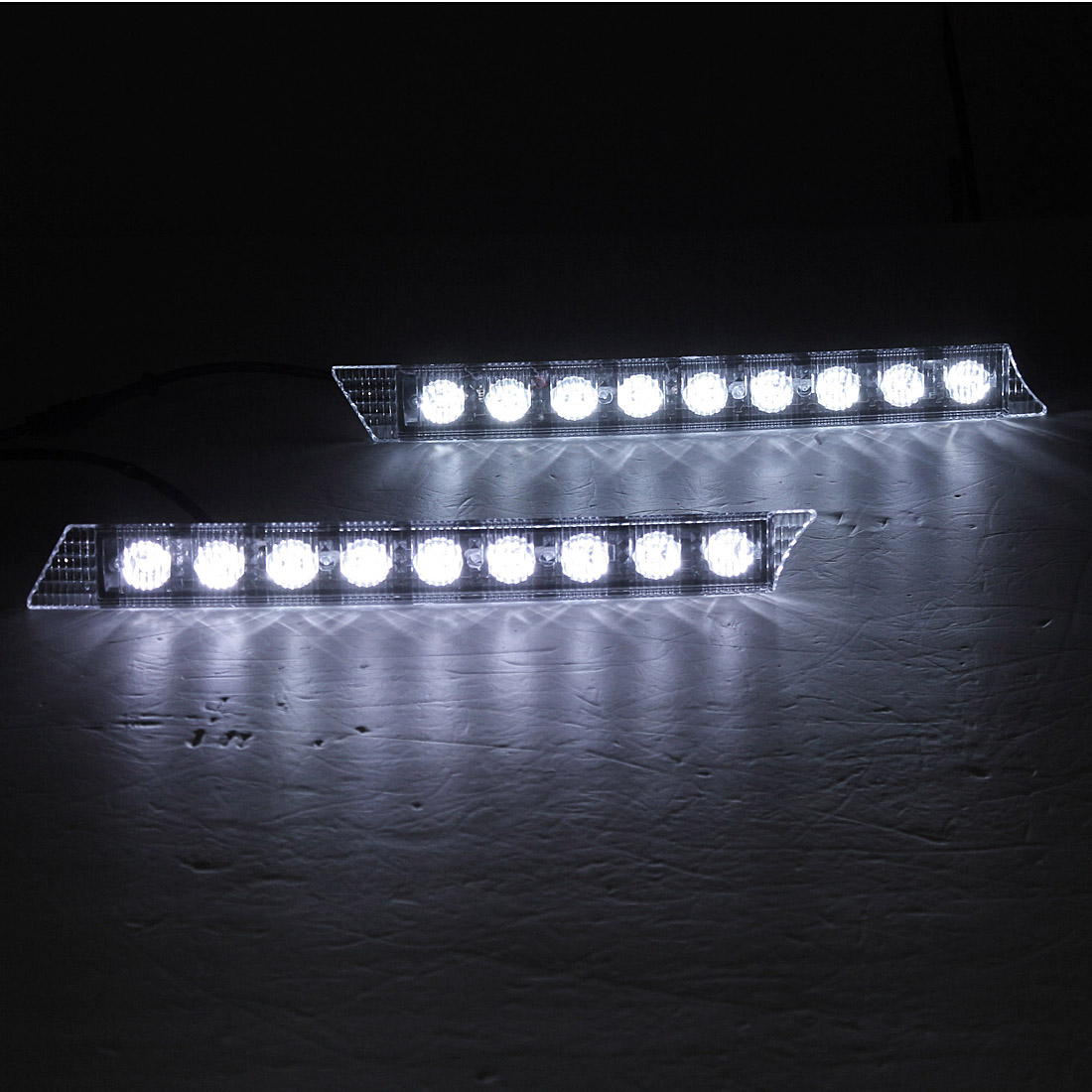 30cm 9 LED Car Daytime Running Lights DRL Spot Driving Lamp White 2PCS Universal for Audi/Porsche