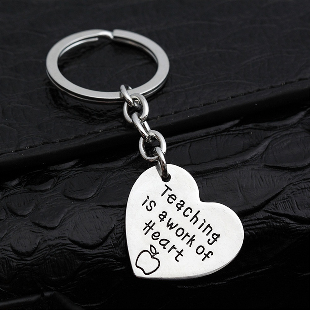 Teachers' Day Gifts Love Heart Pendant Presents Key Chain