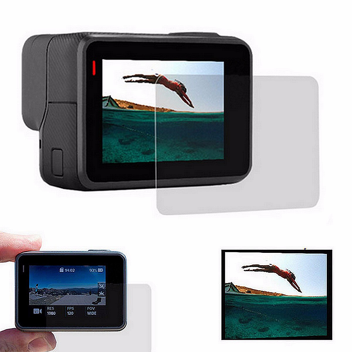 Tempered Glass LCD Screen Protective Film Protector Guard For Gopro Hero 5 Black