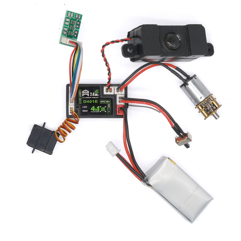 Orlandoo Hunter D401E 2.4G 4-In-1 Receiver Built-In ESC for D4L RC Remote OH35P01 OH35A01 OH32A02 Spare Parts