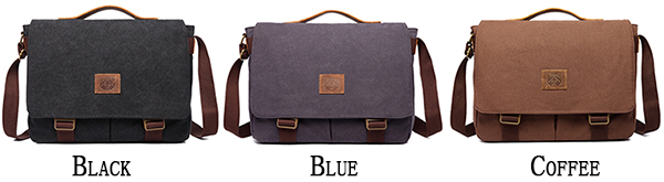 15 inches Laptop Bag Men Canvas Minimalist Crossbody Bag Handbag Leisure Business Shoulder bag