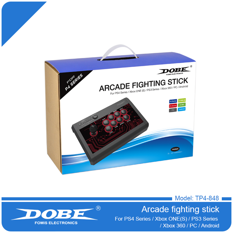 DOBE TP4-848 7 In 1 Super Arcade Fighting Stick for Playstation 4 PS4 PS3 Wired Game Controller