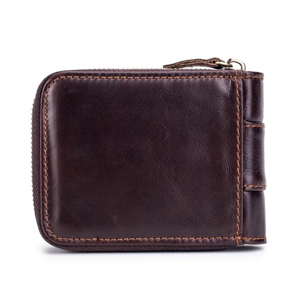 Vintage RFID Antimagnetic Genuine Leather Wallet