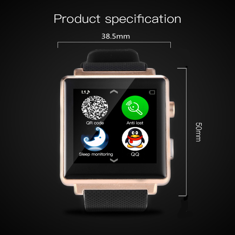bluetooth Smart Watch Support SIM/TF Card Pedometer Sleep Tracker For Android