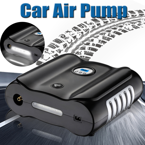 12V Vehicle Motorcycle Tire Air Pump Portable Digital Display Double Cylinder Auto Bike