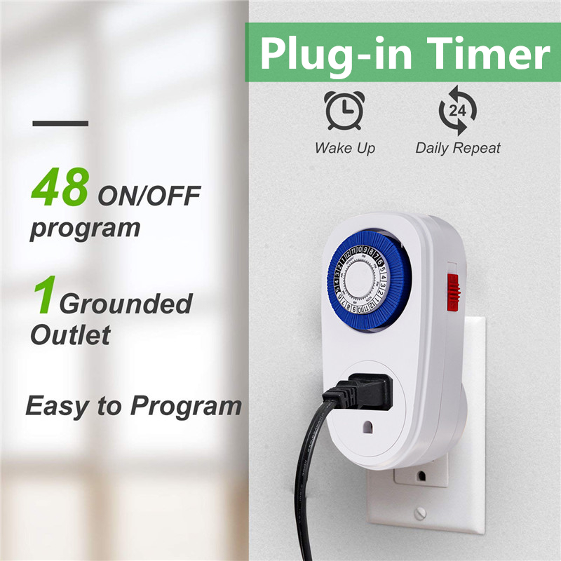 16A 220V 24 Hours Digital Countdown Timer Switch Socket Mechanical Time Wall Plug Switch