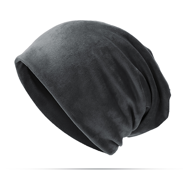Men Women Solid Velvet Warm Beanie Hat Casual Ear Protection Winter Hat