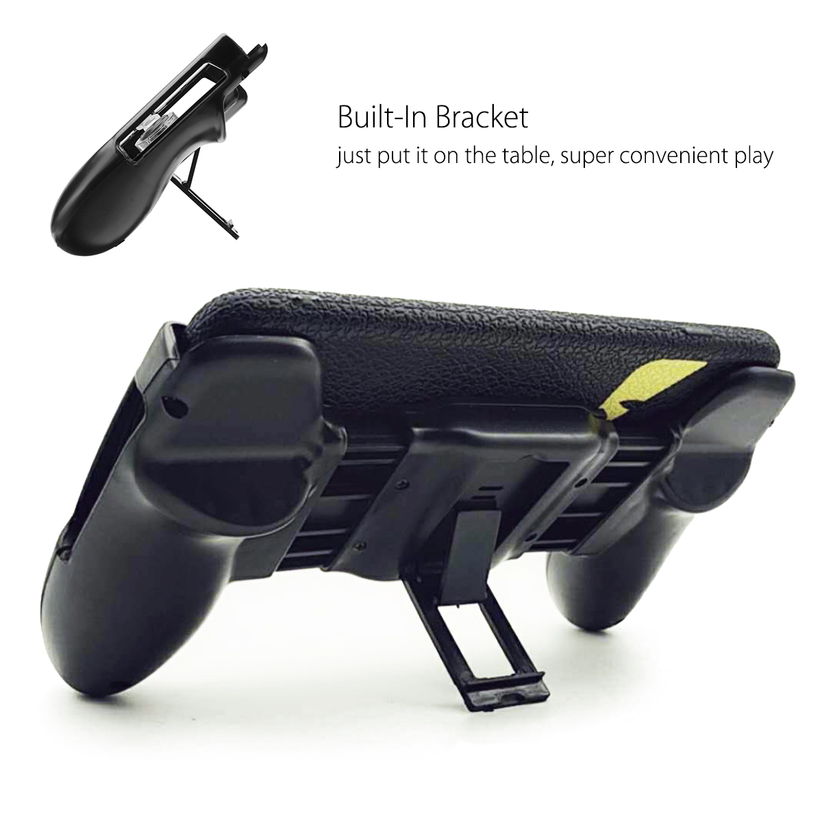 Game Controller Shooter Mobile Gaming Aiming Fire Trigger Button Handle L1R1 for PUBG Mobile Game with Phone Holder