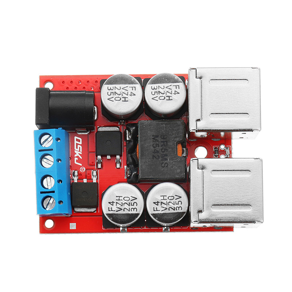 DC8V-35V To 5V 8A Power Step Down Module 4-Port USB Mobile Phone Car Charger Support Fast Charge