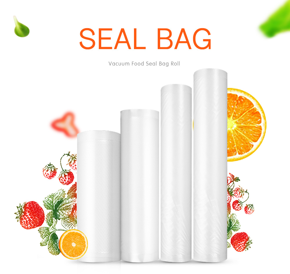 KCASA KC-VB07 30x500cm Vaccum Seal Ring Bag Roll Food Sealer machine Bag Kitchen Storage Fresh-keeping Bag General Food Saver Bag