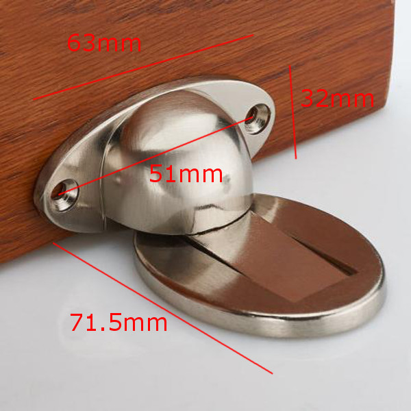 Door Holder Stopper Wedge Catch Magnetic Alloy Wall Mounted