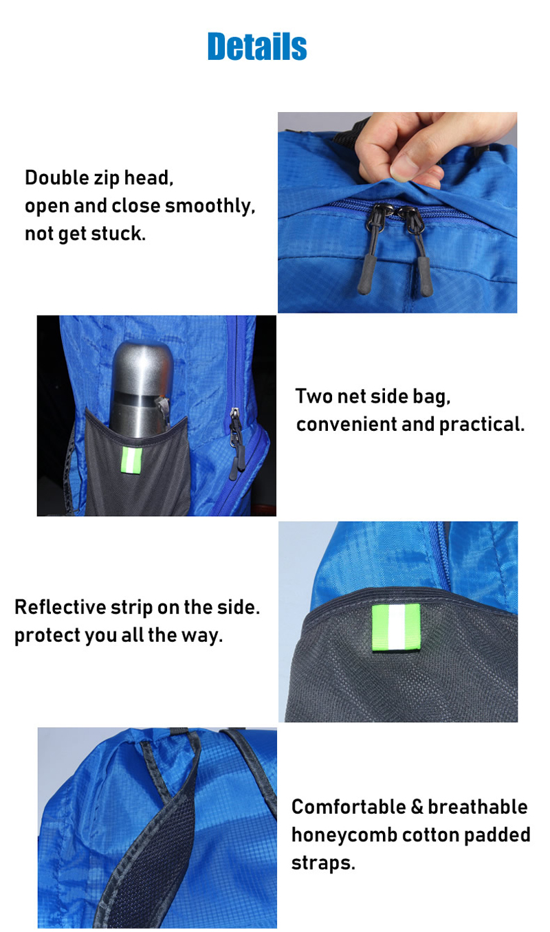 IPRee® 30L Backpack Polyester Foldable Ultralight Waterproof Unisex Shoulder Bag Travel Outdoor Camping Bag