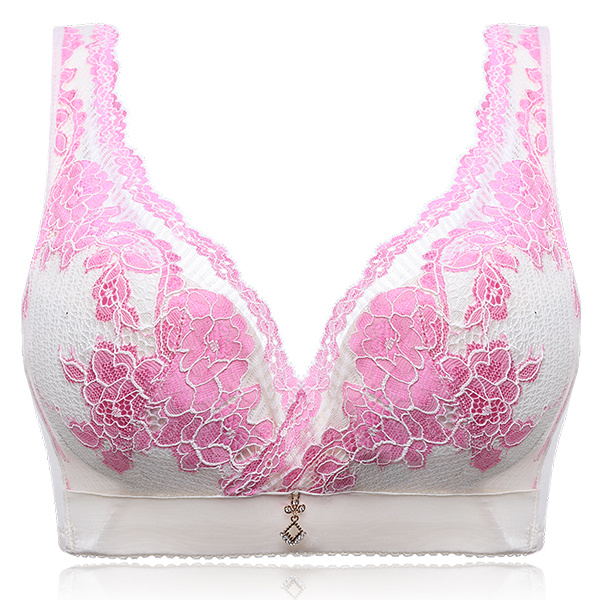 Wireless Floral Lace Full Cup Bra
