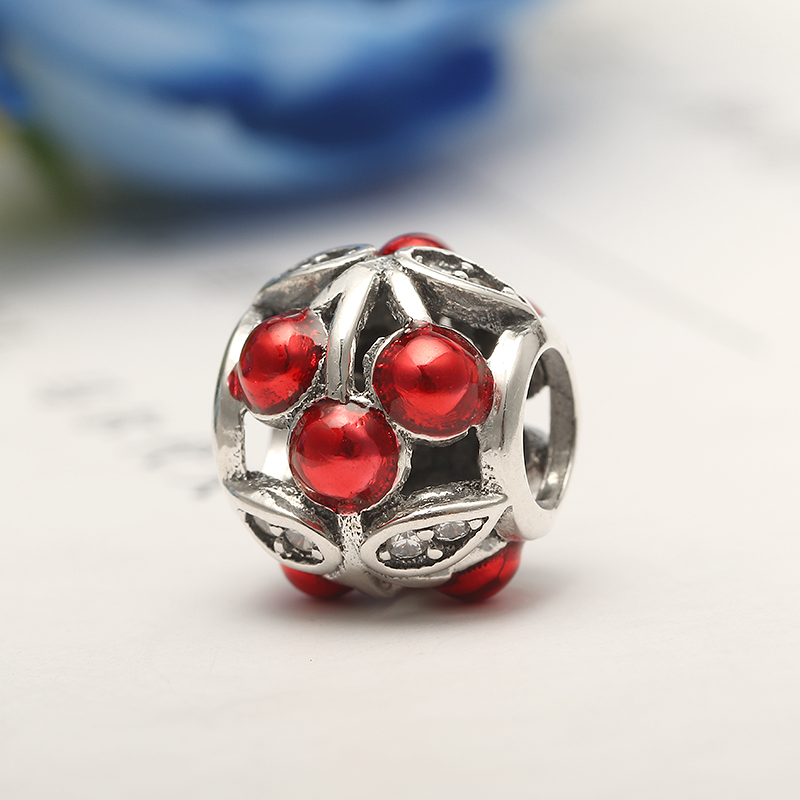 925 Silver Mixed Color Loose Beads Pendant DIY Women Jewelry