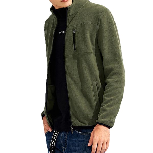 Spring Autumn Warm Men Casual Fleece Jacket