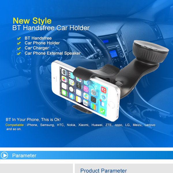 BT8121 Car MP3 Player Wireless FM Transmitter Smartphone Holder Charger With bluetooth Function