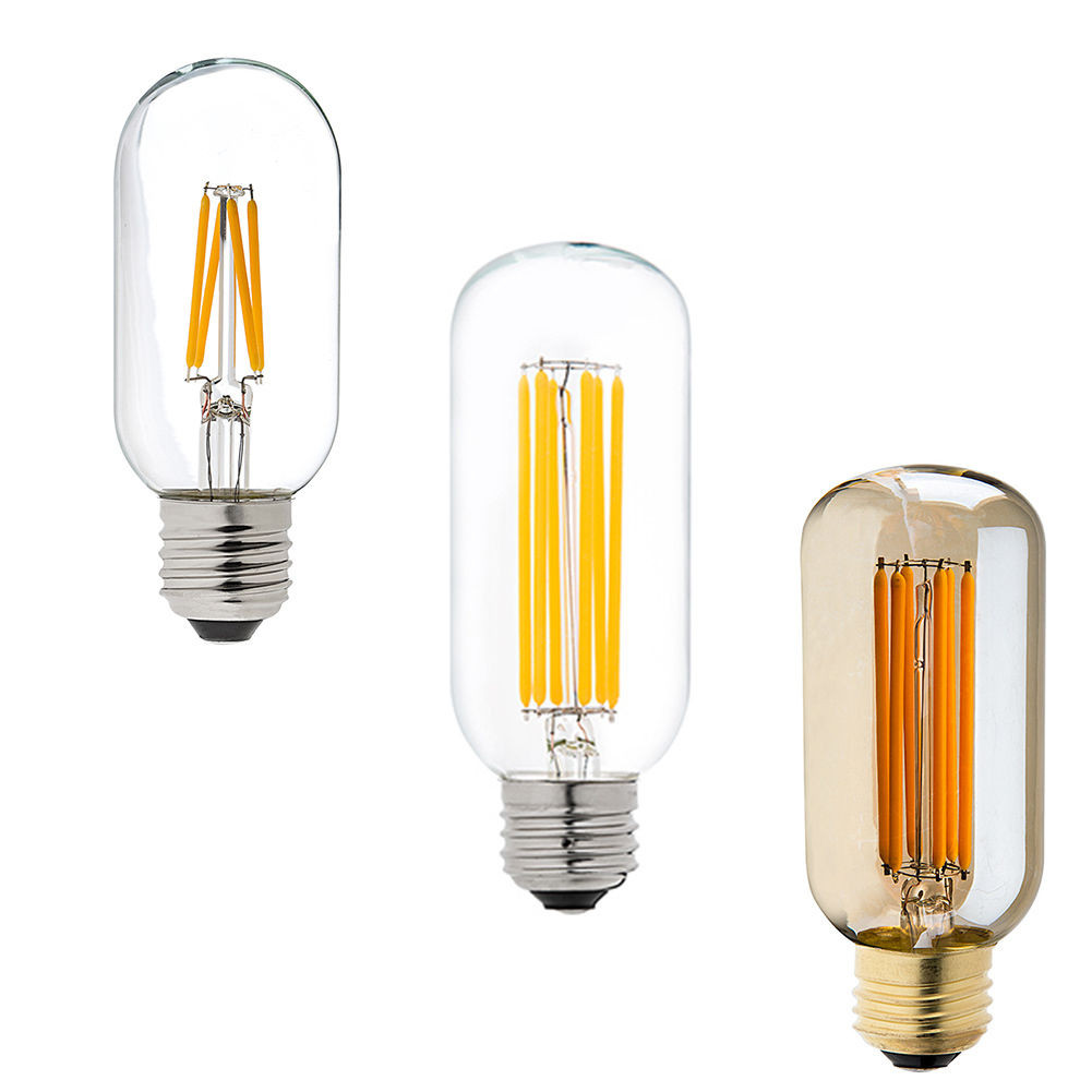 Dimmable E27 E26 T45 4W Warm White COB LED Filament Retro Edison LED Bulbs 110V / 220V