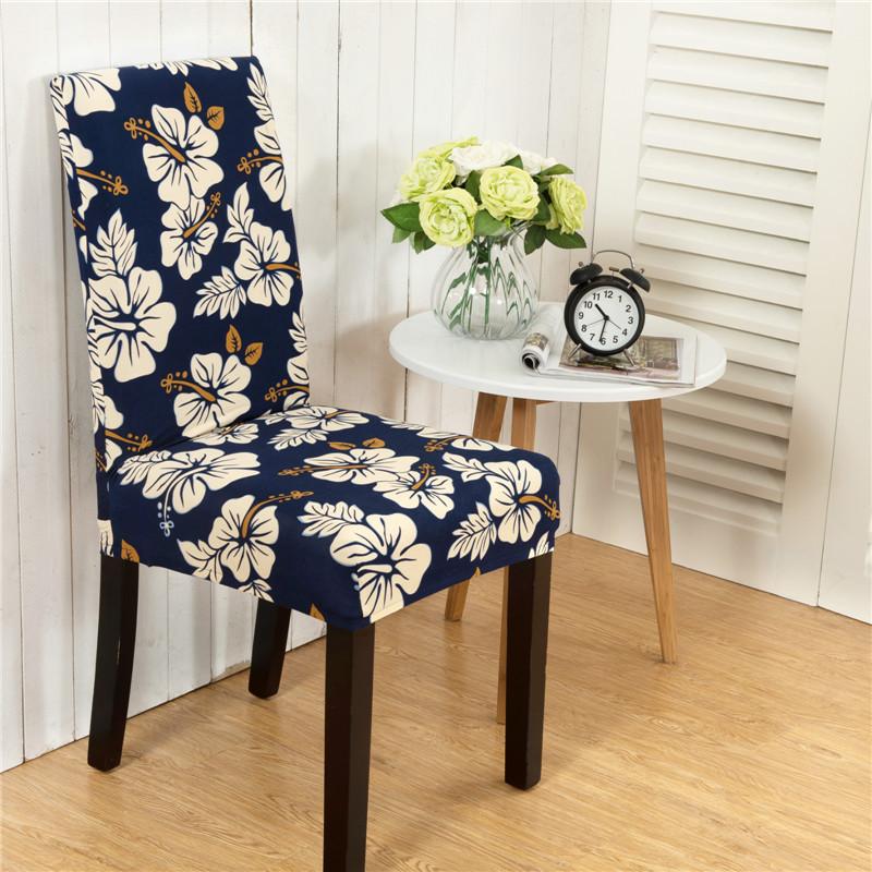 Honana WX-915 Elegant Flower Landscape Elastic Stretch Chair Seat Cover Dining Room Home Wedding Decor