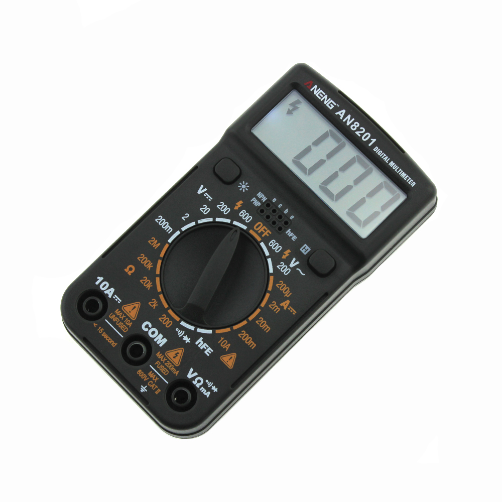 ANENG AN8201 Mini Digital Multimeter Backlight AC/DC Ammeter Voltmeter Ohm Tester 1999 Counts Pocket