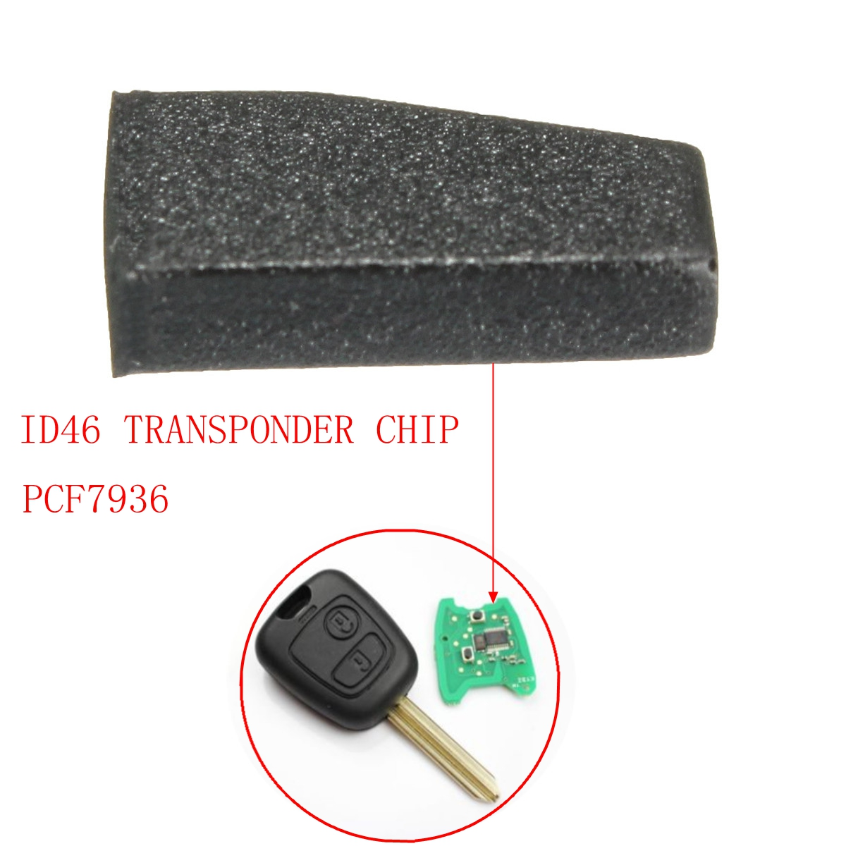 Car Key Blank ID46 PCF 7936 Virgin Transponder Chip For Peugeot Citroen C2 C3