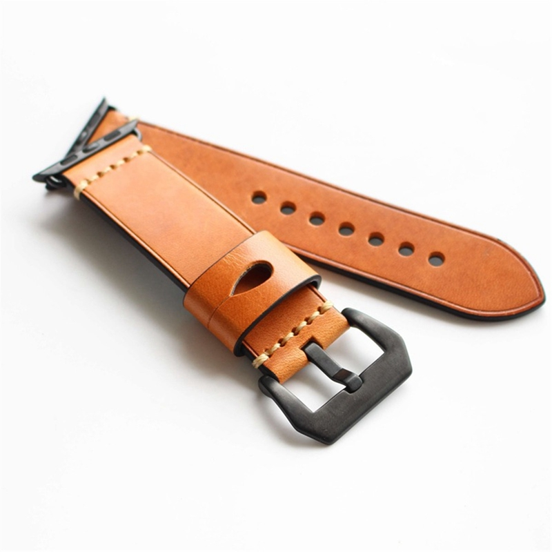Crazy Horse Genuine Leather Watch Band For Apple Watch
