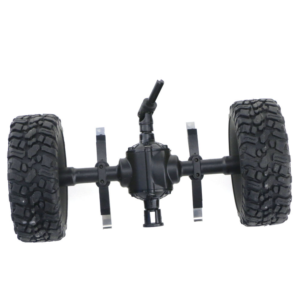 JJRC Q60 6WD RC Car Front Middle Rear Bridge Axle Set For 1/16 Military Truck Green Wheel