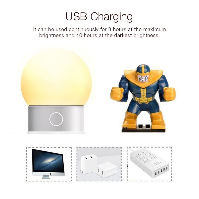 Minleaf ML-P16 Night Light 650mAh LED 5W USB Charging Portable Light Bulb Touch Control Night Light