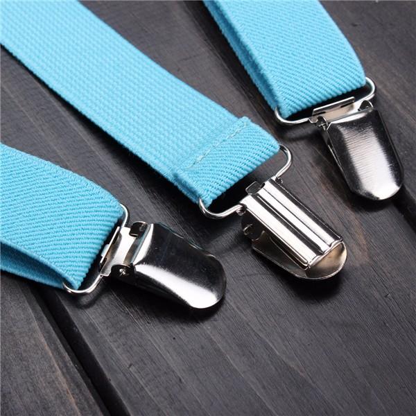Unisex Clip-on Suspenders Elastic Y-Shape Adjustable Braces