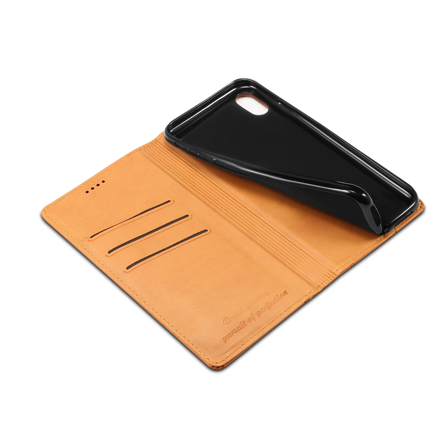 Bakeey Protective Case For iPhone XS Max Genuine Leather Magnetic Flip Wallet Kickstand Cover