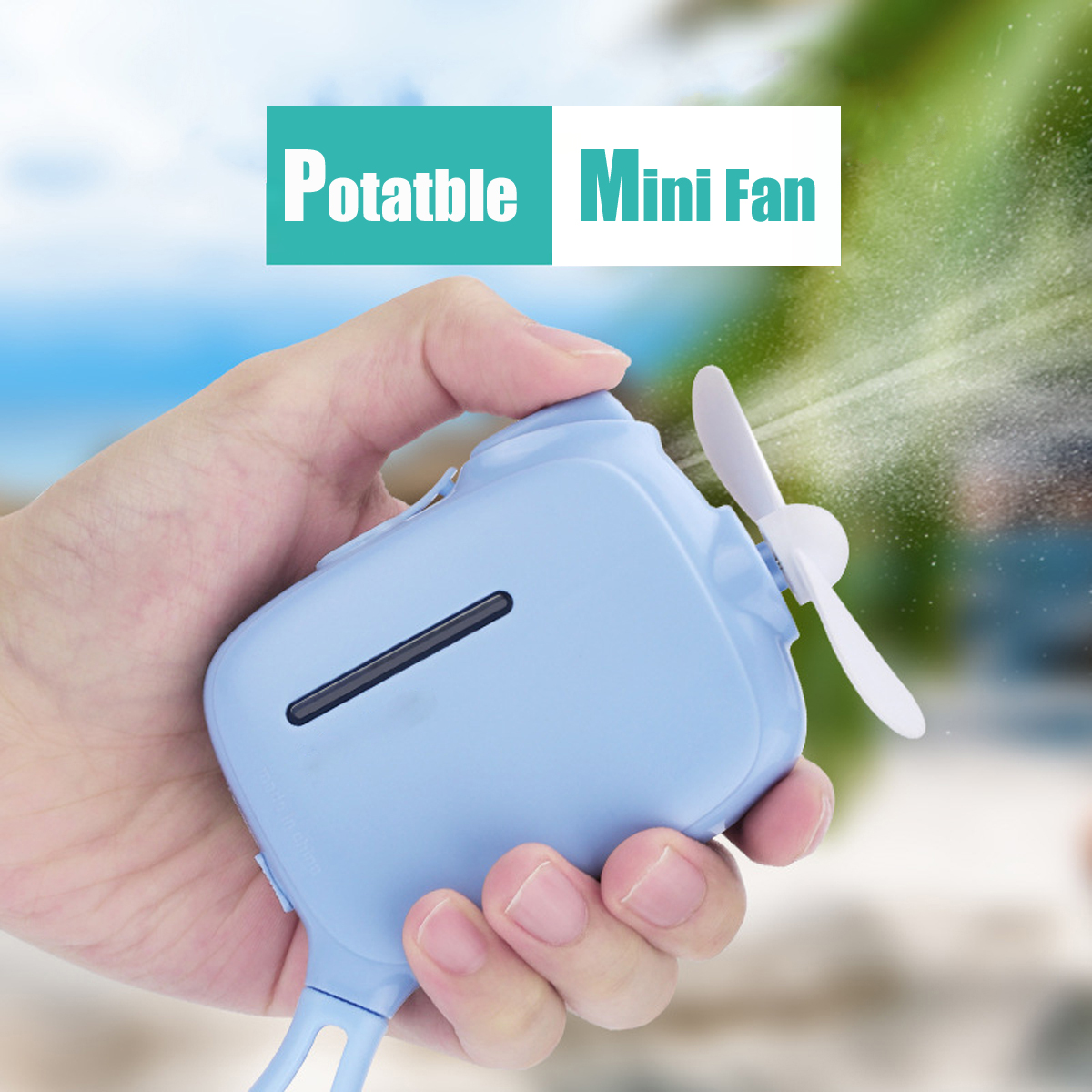 Mini Humidifier Portable Cooling Fan USB Rechargeable Handheld Mist Water Sprayer