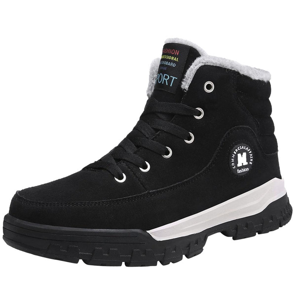 Outdoor Winter Men Cotton Shoes Plus Cashmere Warm Casu