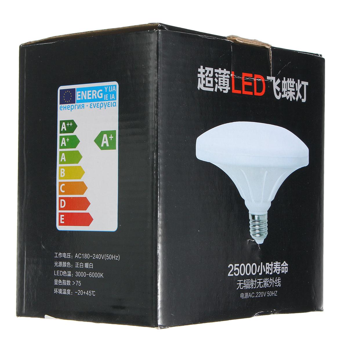 E27 24W 48 SMD 5730 LED Cool White Saucer Globe Light Lamp Bulb AC220V