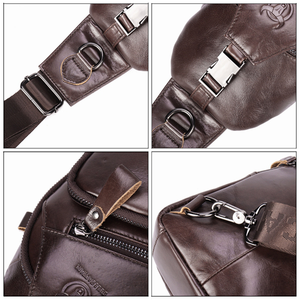 Bullcaptain Wallet Men Genuine Leather Retro Chest Bag