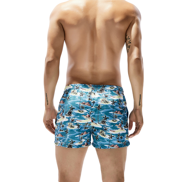 Mens Summer Hawaiian Printing Fashion Beach Board Shorts