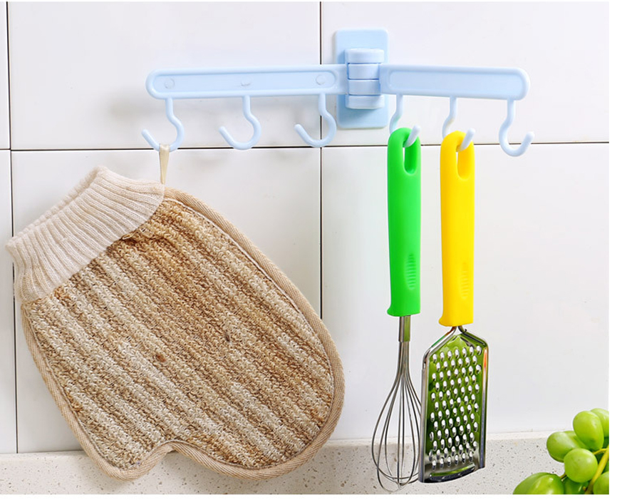 Honana BX-080 Foldable Wall Towel Hanger Hook Towel Rack Holder Clothes Hanging Space Save Rack