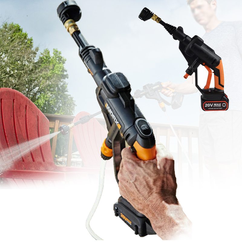 Lithium Electric High Pressure Car Washing Machine Rechargeable Car Washer Gun