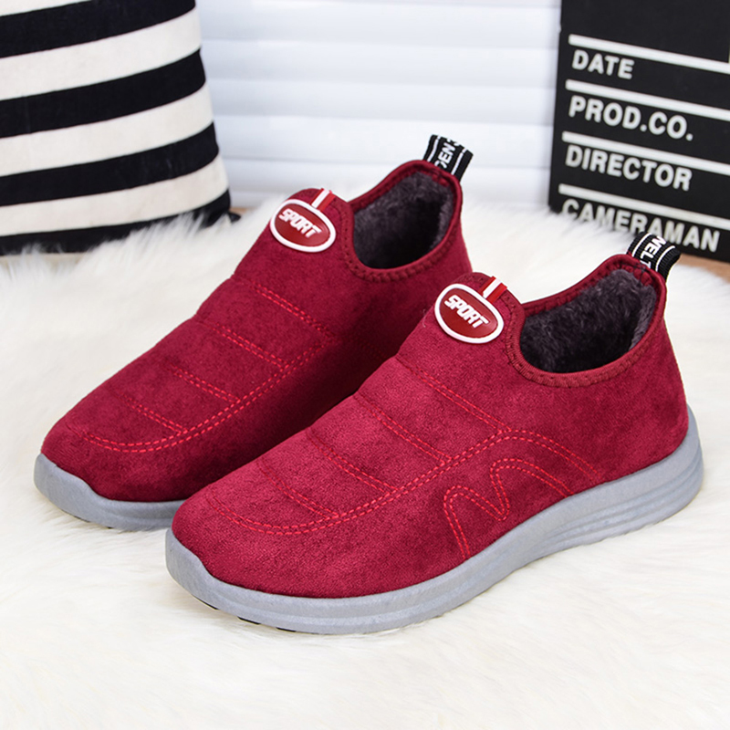 Slip On Casual Women Shoes Suede Warm Ankle Boots