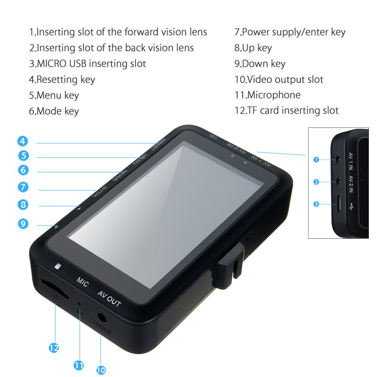 3.0inch LCD Waterproof Motorcycle Biker HD Action Camera Video DVR Recorder