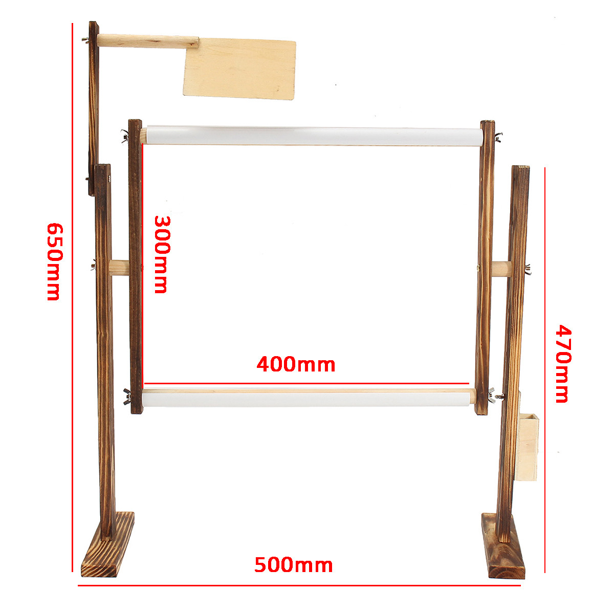 300x400mm Cross-stitch Frame Wood Carbon Desktop Wood Frame Embroidery Tool