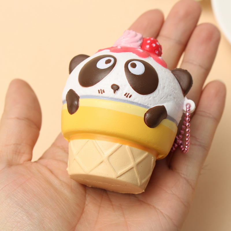 SquishyFun Cute Panda Cream Super Slow Rising Squishy Original Packing Ball Chain Kid Toy