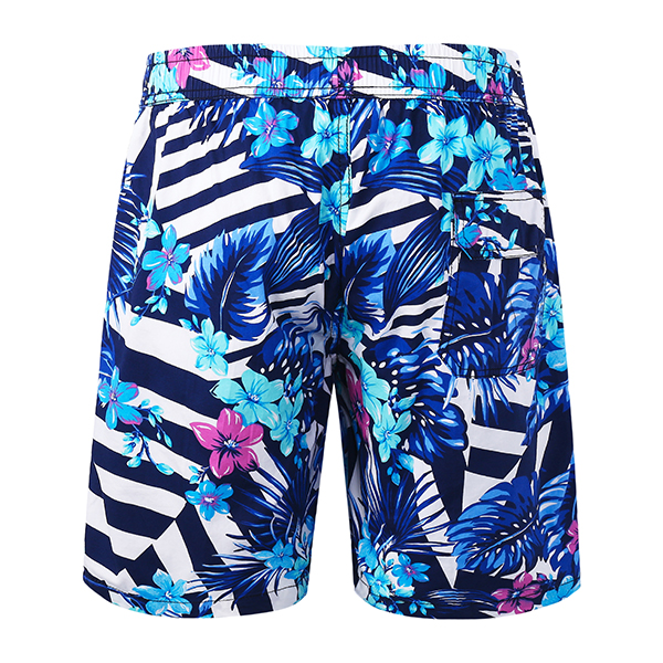 Mens Floral Printing Fashion Board Shorts Casual Summer Swimming Beach Shorts