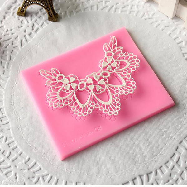 Silicone Fondant Mold Lace Flower Fondant Cake Mould Silicone Fondant Mould Decoration Chocolate