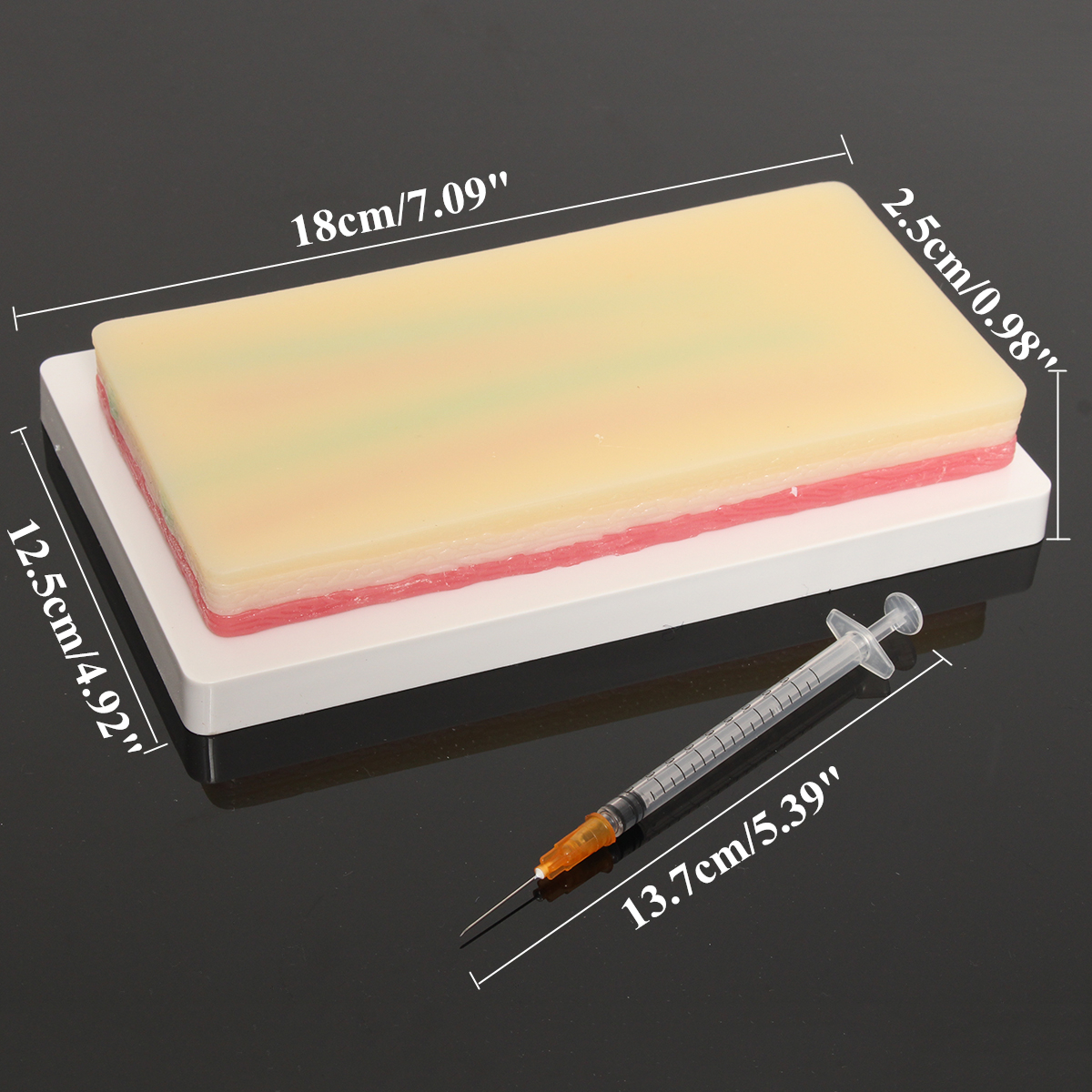 Human Skin Medical Suture Training Model Silicone Pad Student Practice