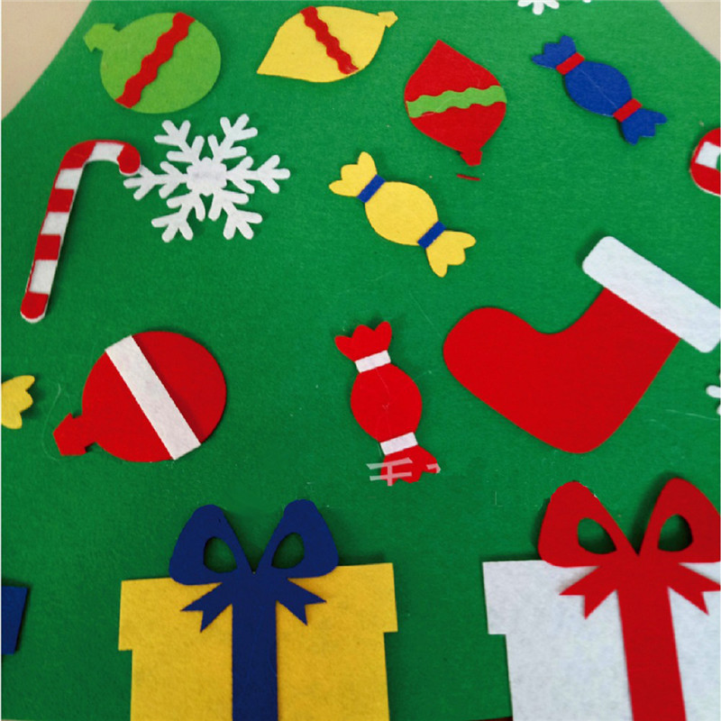 Christmas Tree Set with Ornaments Gift Door Wall Hanging Decoration