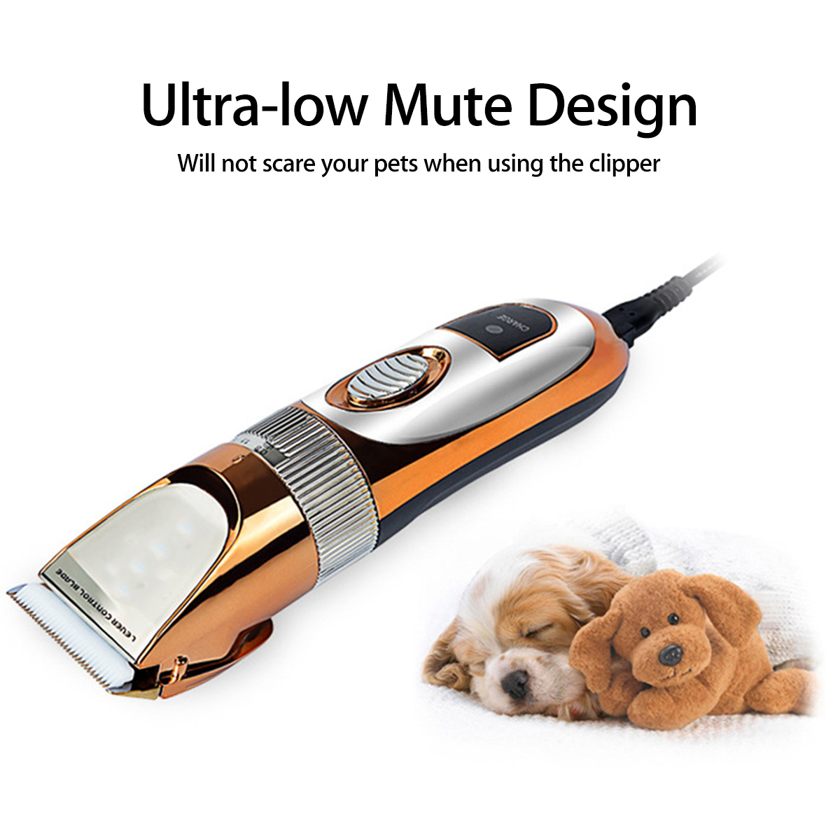 60W Professional Pet Cat Dog Rabbit Clipper Grooming Trimmer