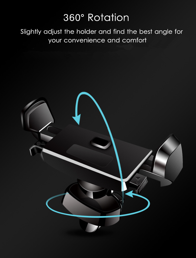 Bakeey™ Touch Linkage Anti-scratch 360 Degree Rotation Car Phone Holder Stand for Samsung iPhone X