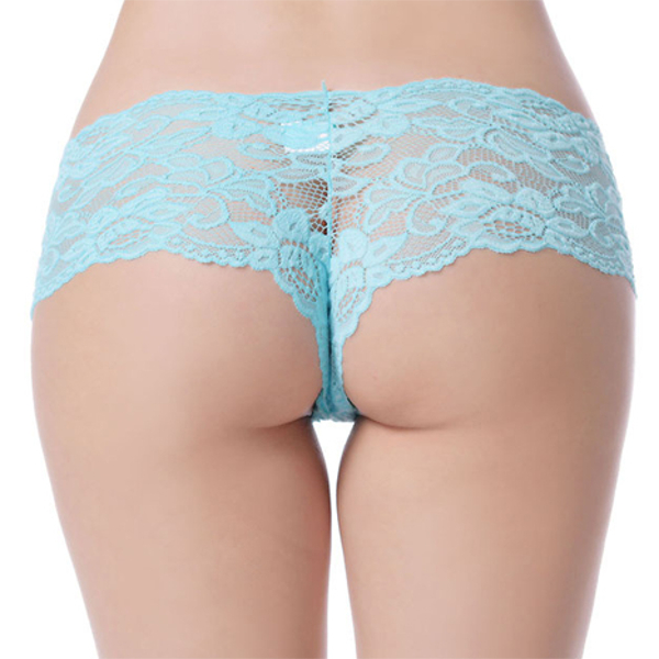 Plus Size Sexy Lace Cheekies Clear Exotic Panties