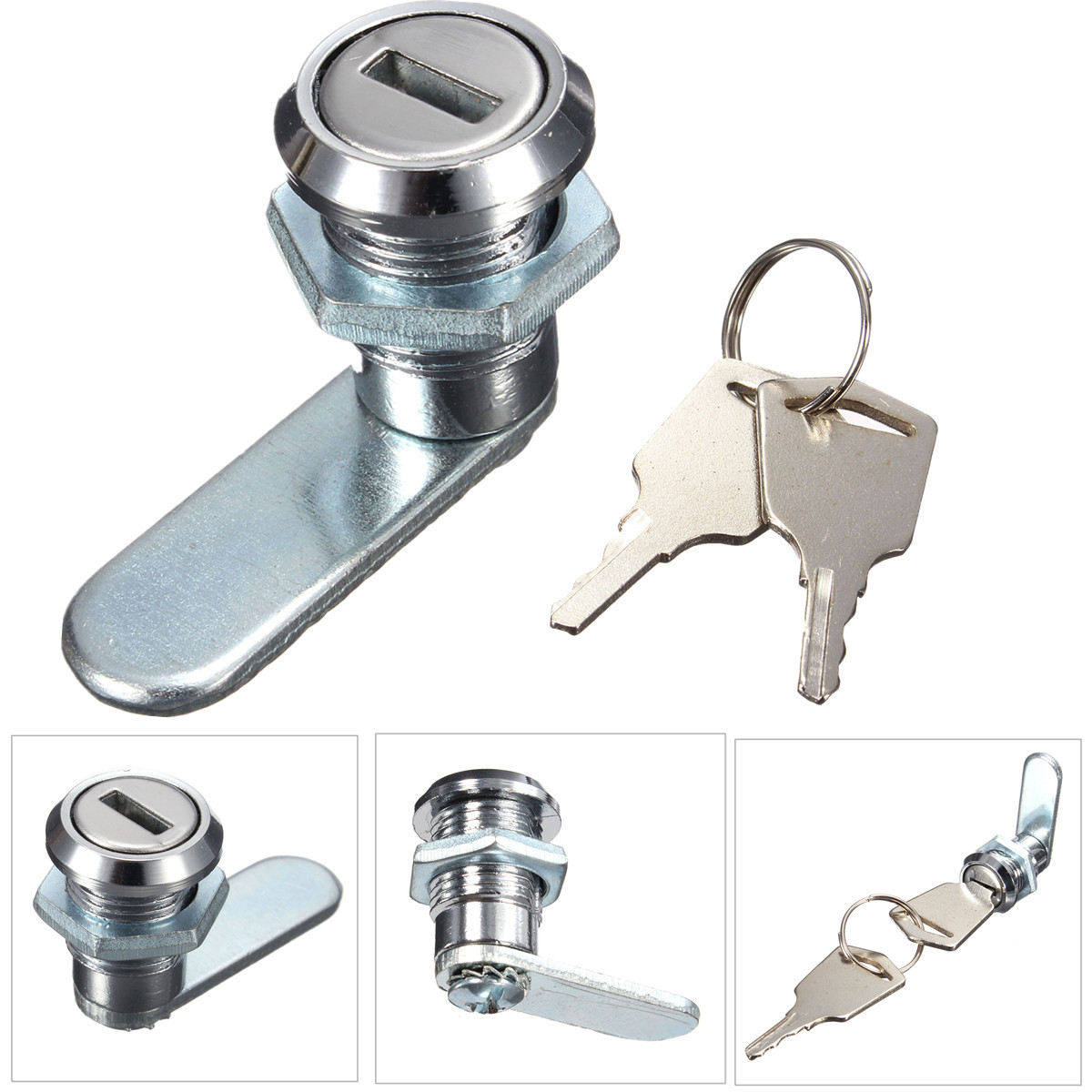 Cam Lock Desk Drawer Lock with 2 Keys for Arcade Cupboard Mail Box File Cabinet